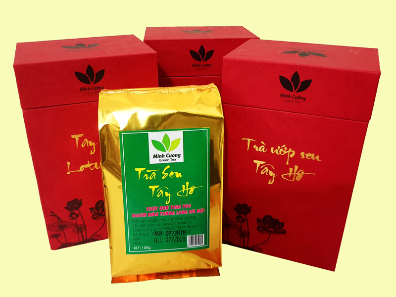 Sản phẩm trà ướp sen Cao cấp - món quà biếu tết siêu độc đáo