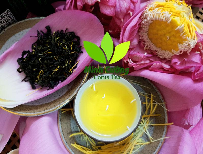 Chén trà ướp sen Tây Hồ