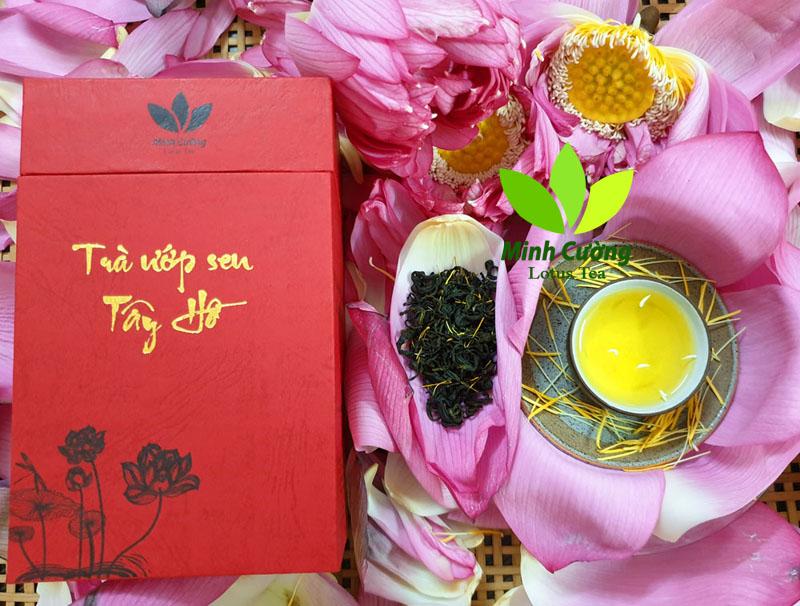 Sản phẩm trà ướp sen Tây Hồ Minh Cường