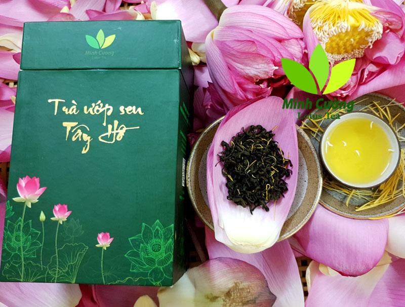 Hộp trà ướp sen Tây Hồ 100g