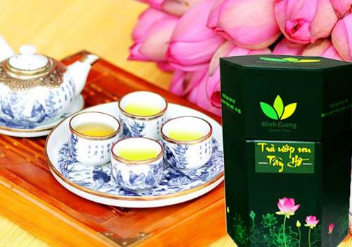 Trà sen Hồ Tây đặc biệt của công ty Chè Minh Cường ngon nhất Hà Nội