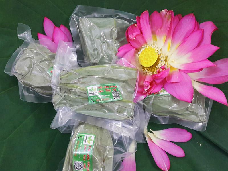 Sản phẩm trà ướp hoa sen Hà Nội