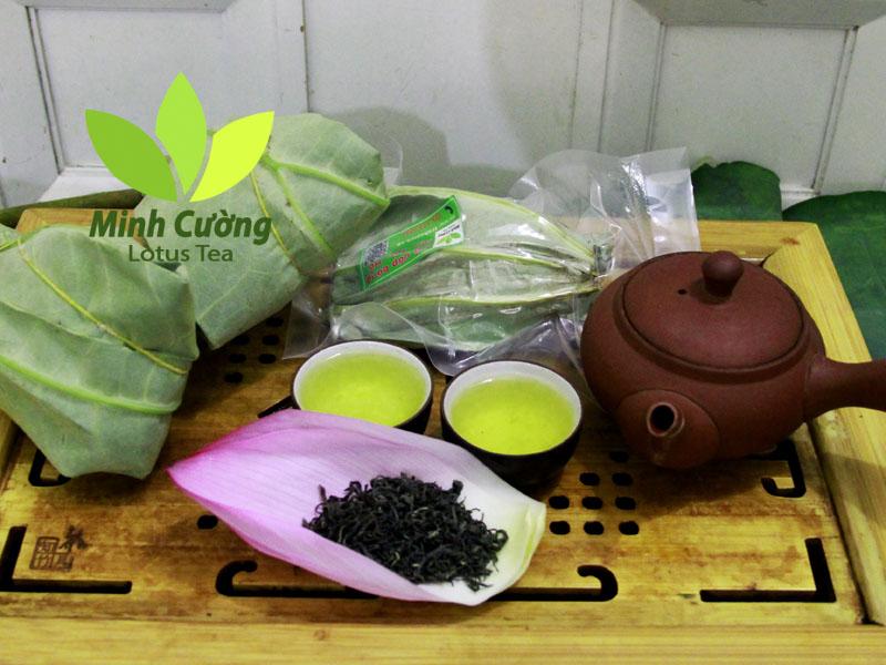 Cùng đặt trà ướp bông sen Minh Cường về thưởng thức nha