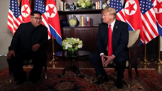 hai nhà lãnh đạo Trump - Kim