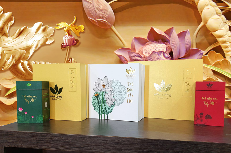 Các sản phẩm trà sen Minh Cường - quà Tết độc nhất